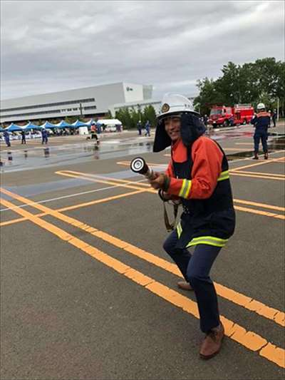 中央消防団の総合訓練大会